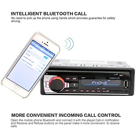 Amazon.com: Alloet New In-Dash Bluetooth Car Stereo Audio FM Aux Input Receiver SD USB MP3 Radio Player: Car Electronics