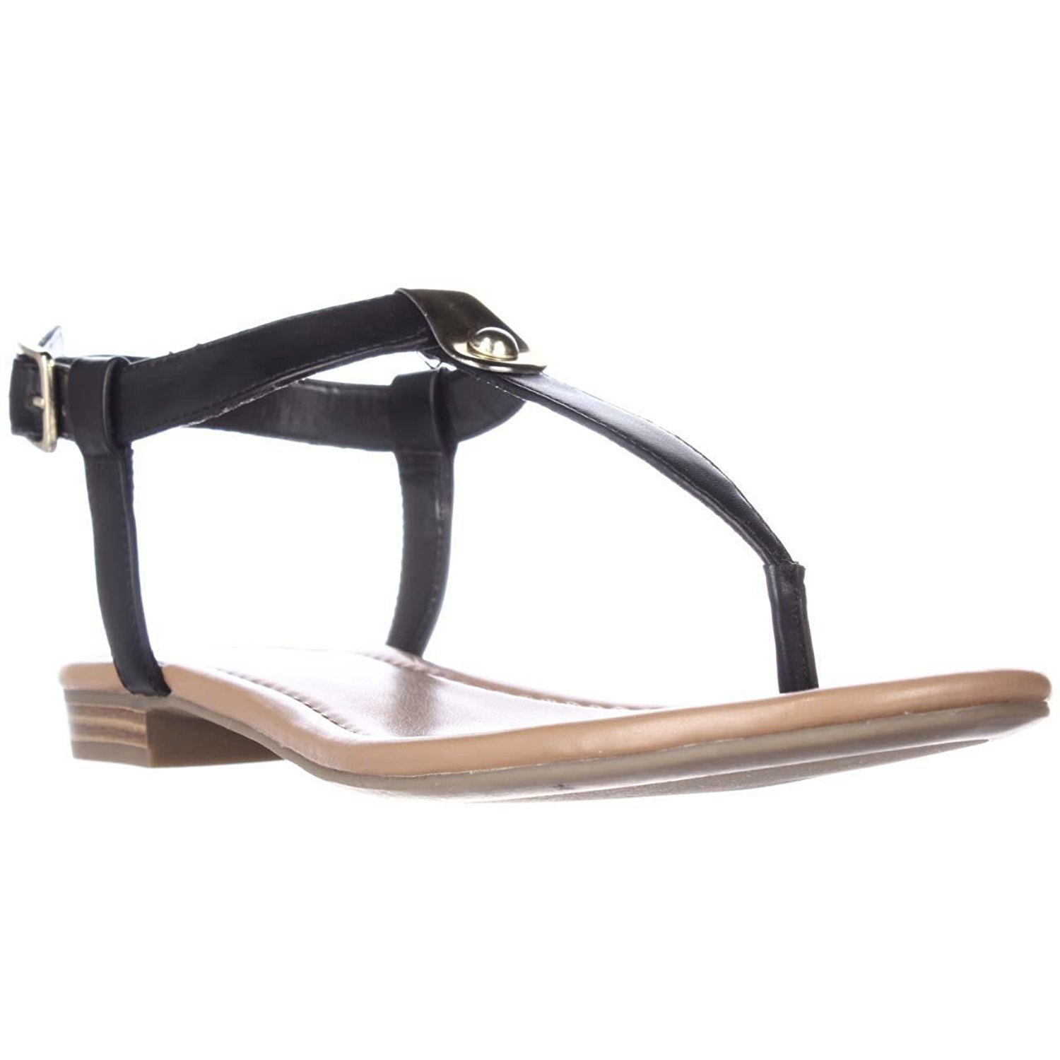 Style & Co. Womens Baileyy Open Toe Casual Ankle Strap Sandals, Black, 8.0M