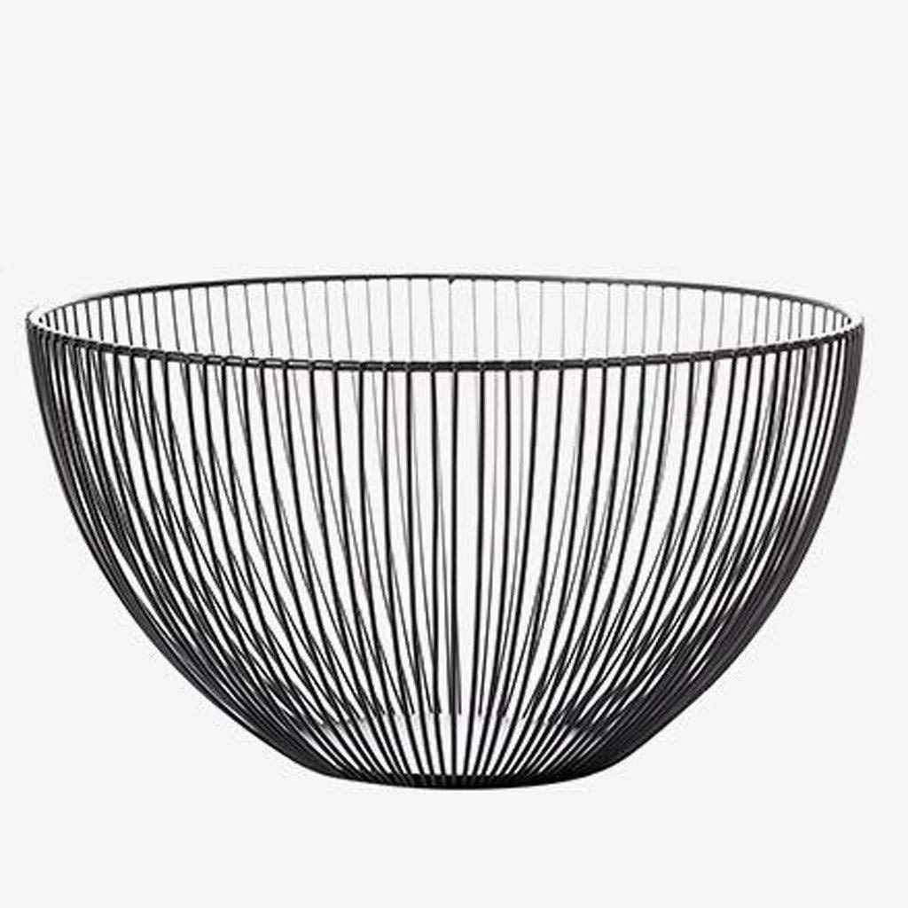 YJLGRYF Storage Shelf Nordic Fruit Blue Creative Modern Minimalist Living Room Coffee Table Storage Basket Wrought Iron Tabletop Snacks Large Fruit Bowl Storage Rack