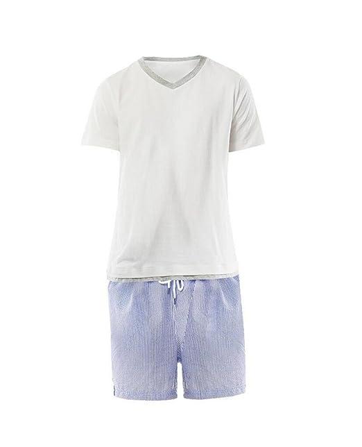 8ae8dc75ce De Manga Corta Con Cuello En V De Algodón Ropa Exterior Pijamas Chándal  Deportes De Verano