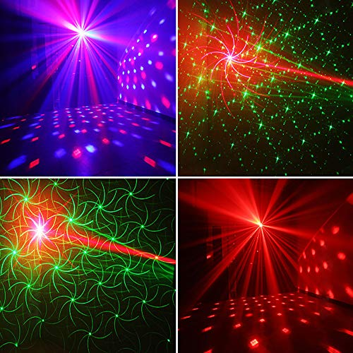 Party Lights + Disco Ball GOOLIGHT Dj Disco Lights LED Stage Light Projector Strobe lights Sound Activated with Remote Control for Xmas Club Bar KTV Holiday Dance Christmas Birthday Home Decoration by GOOLIGHT (Image #7)