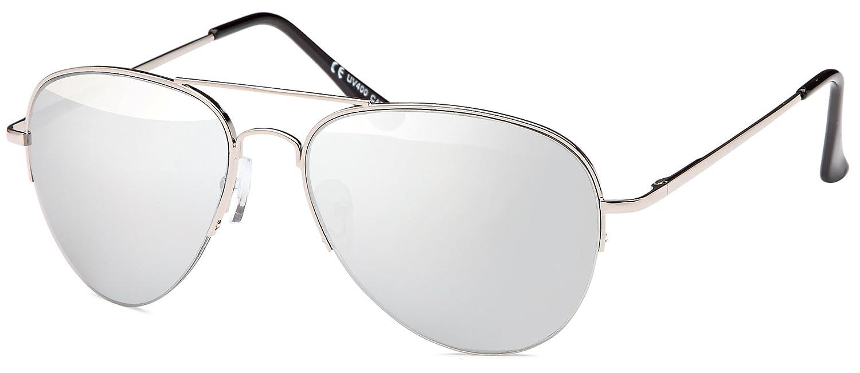 Sonnenbrille verspiegelt Pilotenbrille mit flexiblen Federbügeln für ...