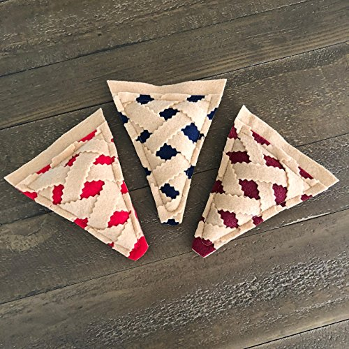 Pie Slice Organic Catnip Cat Toy Variety Pack - 3 Pie Slices by Furball Fanatic