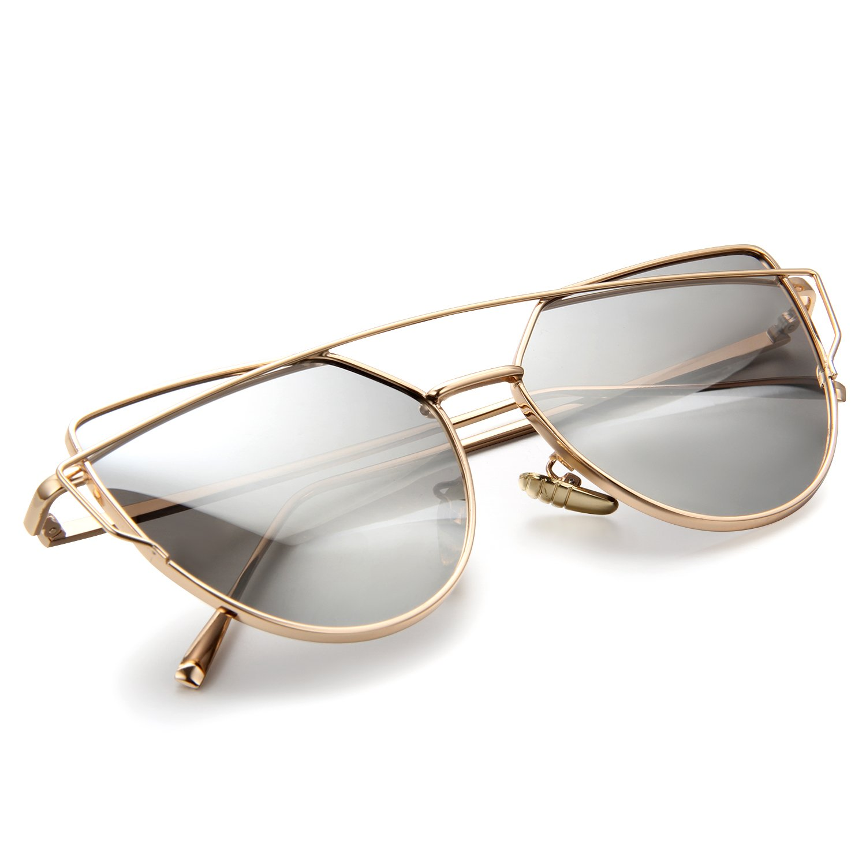 Aroncent Lunettes de Soleil Classique Polarisé Frame Alliage pour Femme et Homme Eyewear Multi-choix p1sUHxLKeb