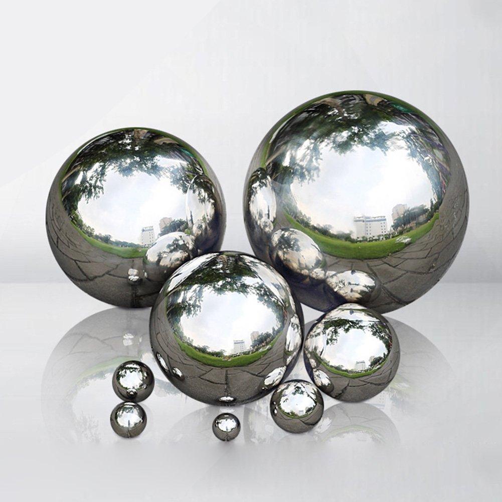 304 Stainless Steel Hollow Ball Seamless Mirror Finish Sphere Garden Ornaments Mirror Ball Sphere Somedays