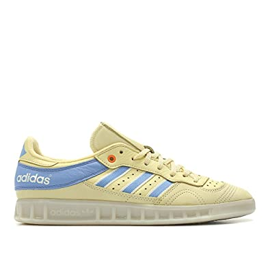 Amazon.com | adidas Men Oyster Holdings Handball Top Yellow Easy Yellow ash Blue Chalk White Size 8.0 US | Fashion Sneakers