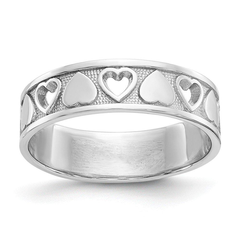 Beautiful White gold 14K 14k White gold Heart Ring