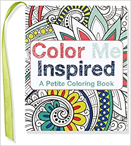 amazoncom color me inspired mini coloring book 9781441321305 peter pauper press books - Mini Coloring Books