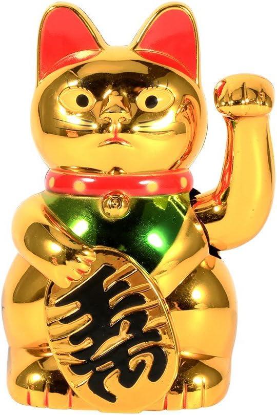 Amazon Com Lucky Cat Gold Waving Lucky Fortune Cat Chinese Lucky Cat Maneki Neko Feng Shui Waving Cat Arts Crafts Sewing