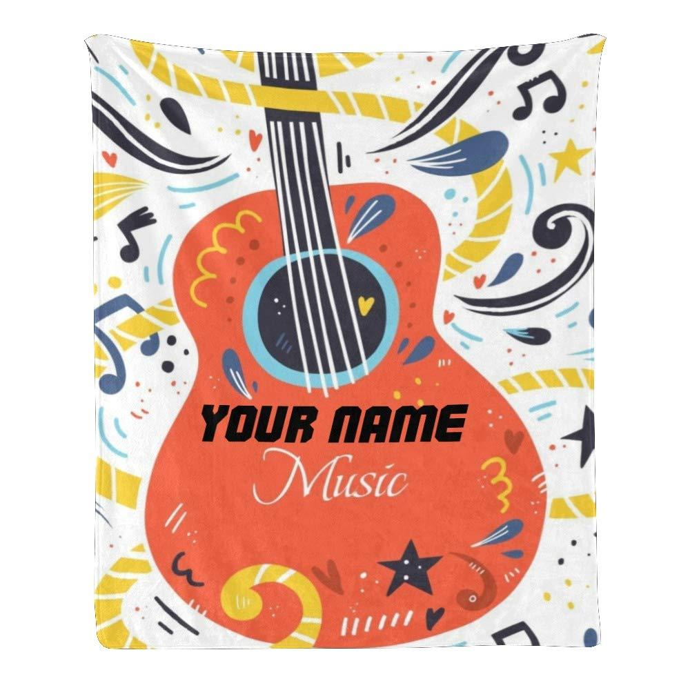 custom name blanket personalized baby gift Baby boy guitar name blanket guitar baby blanket boy or girl music guitar baby gift