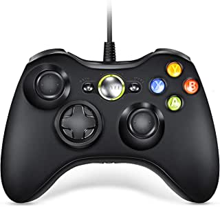 Controller for Xbox 360, VOYEE Wired Controller Compatible with Microsoft Xbox 360 & Slim/PC Windows 10/8/7 (Black)   Upgraded