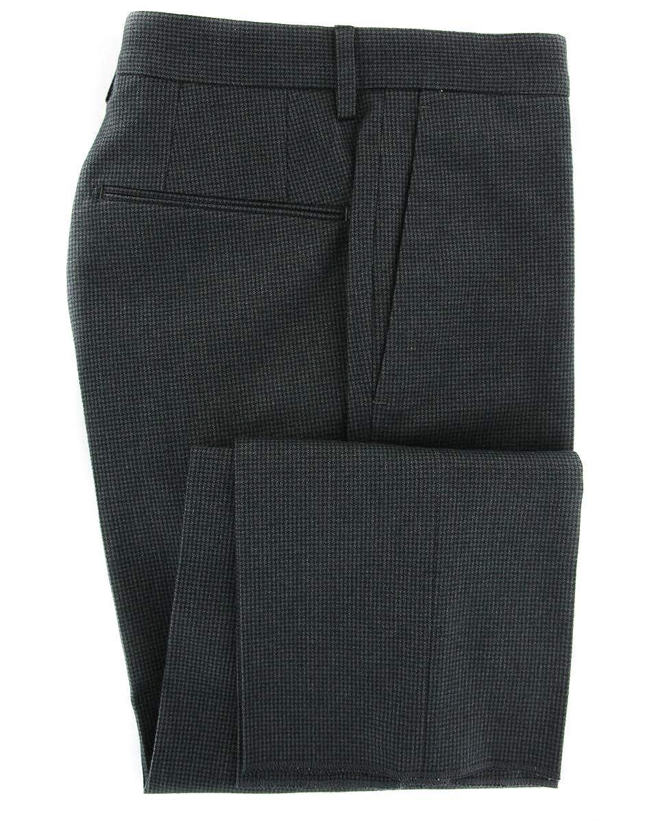 Incotex Dark Green Houndstooth Pants Extra Slim