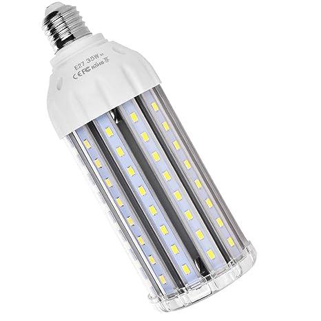 MHtech E27 35W Bombilla LED Lámpara Luz Blanco Frio 6500K Ángulo de Haz 360° 3500