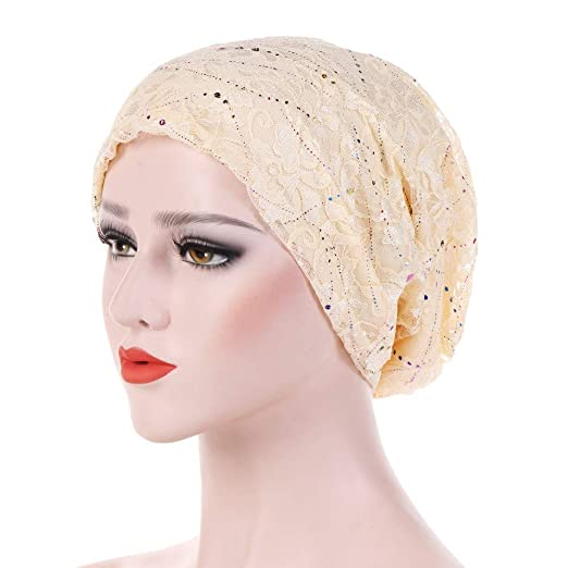 NEWONESUN Women Hat, Chemotherapy Cap Muslim Hat Colorful Head Wrap Cap at Amazon Womens Clothing store: