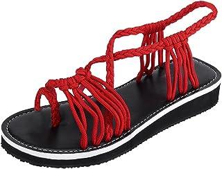 Manadlian Sandales Compensées Femme Sandales à Talons Haut Été 2019 Chaussures de Perle Tongs Pantoufles de Bouche de Poisson Compensé Chaussons