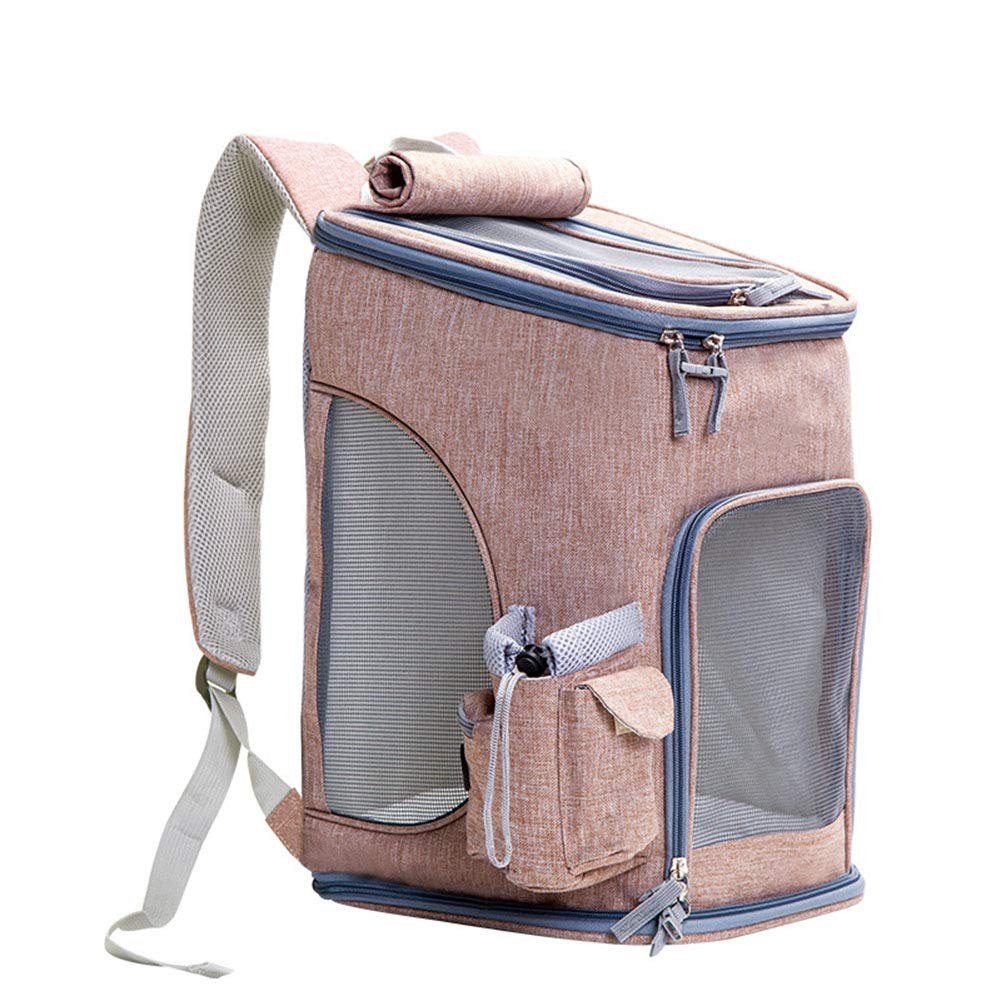 Gingeryellow YANWE Fabric Foldable Pet Carrier bag, Dogs backpacks Cat carrier ash Oxcloth + Breathable mesh window Folding Bar Suitable for all small Pets, in outdoor trip, etc.