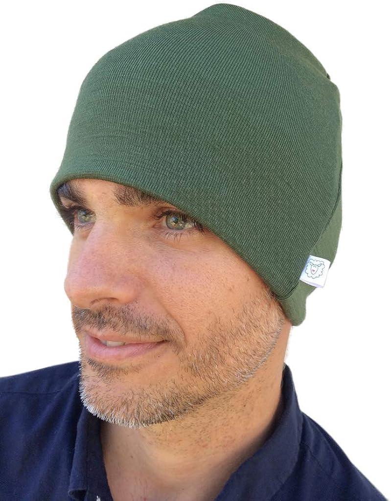 Knit Cap Slouchy Beanie Pure Organic Merino Wool Hat Skully Toque Balaclava