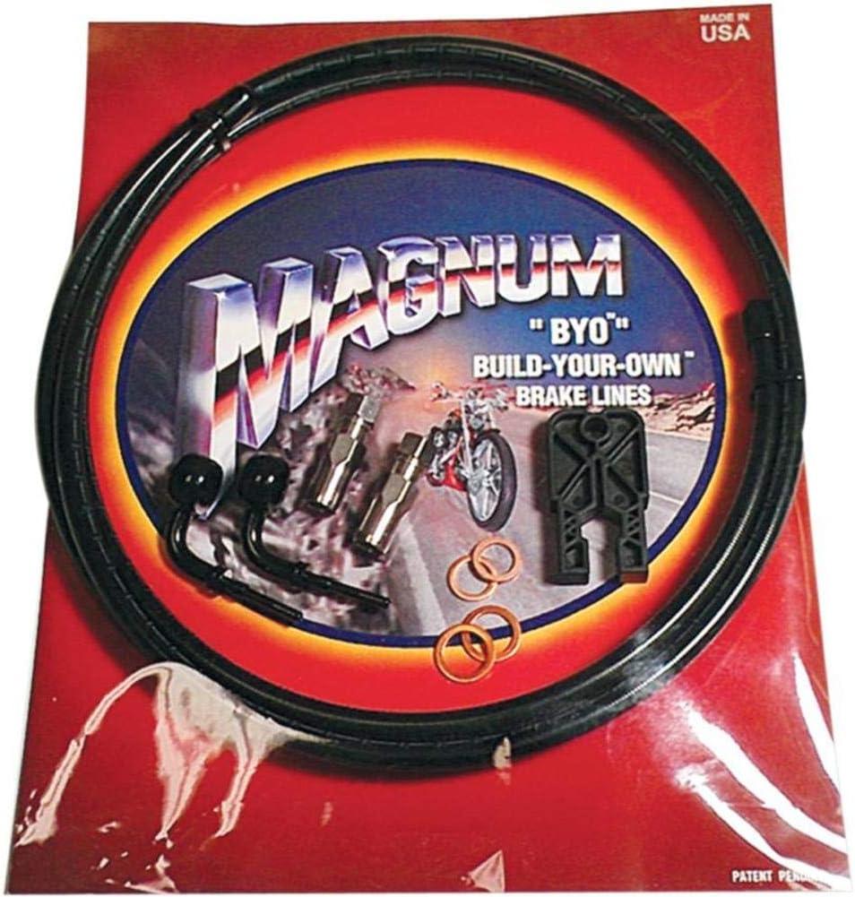 35deg Magnum BYO Build-Your-Own DOT Dual Disc Brake Line Kit with 7ft Black 490435A Brake Line Banjo