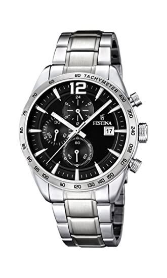 Amazon.com: Festina Chrono Sport F16759/4 Mens Chronograph Solid Case: Watches