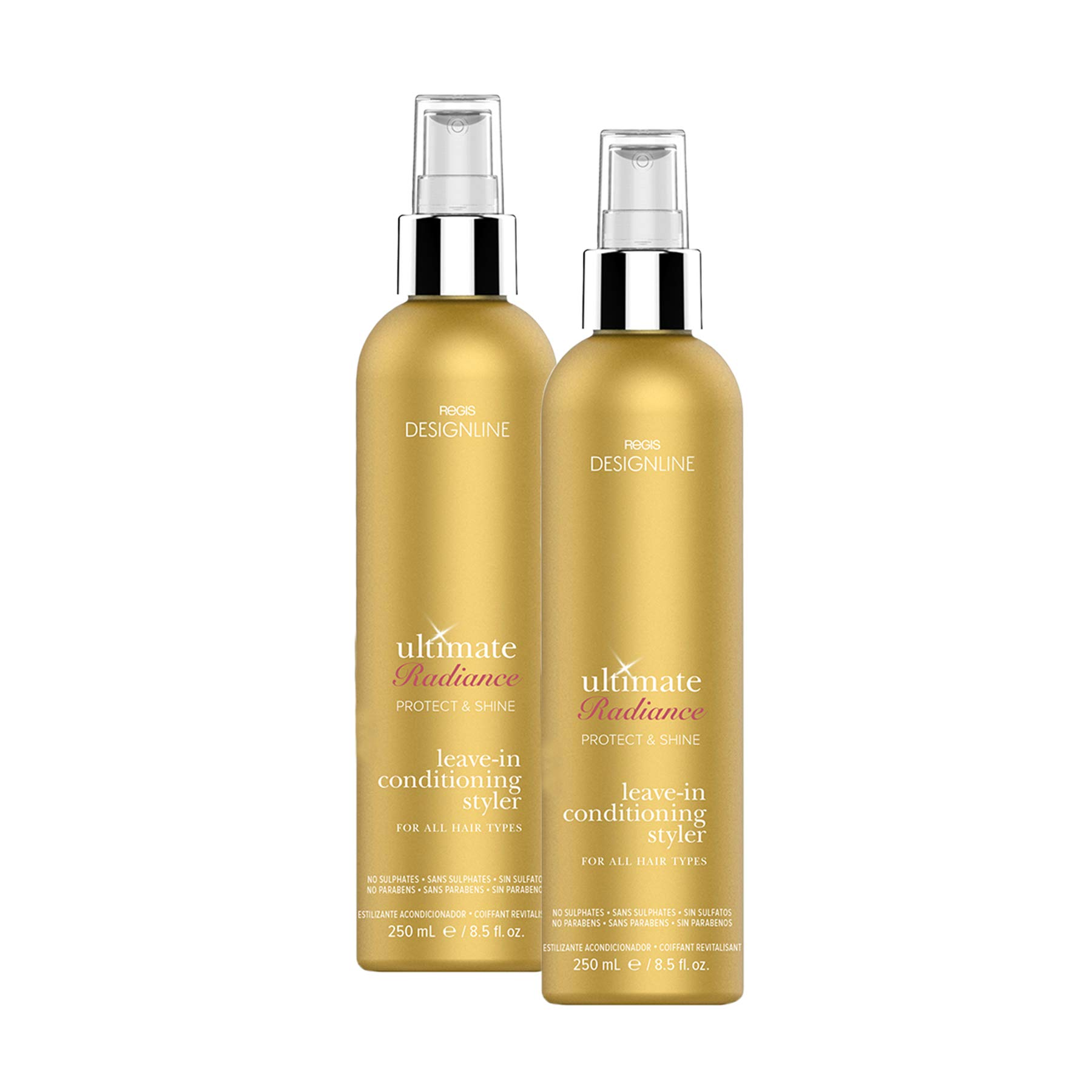 Ultimate Radiance Leave-In Conditioning Styler, 8.5 oz - Regis DESIGNLINE - Deep Conditioner Treatment that Reconstructs Damaged Hair and Repairs Split Ends (8.5 oz (2 pack)) by DESIGNLINE
