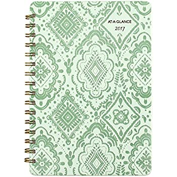 """AT-A-GLANCE Weekly / Monthly Planner / Appointment Book 2017, Premium, 5-1/2 x 8-1/2"""", Light Green (682-200)"""