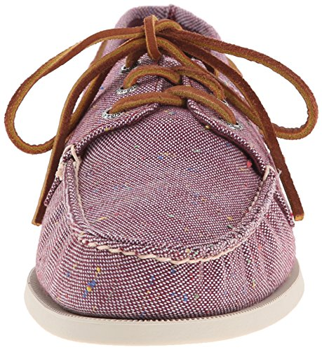 Sperry Top-sider Homme A / O 3 Eye Fleck Toile Bateau Chaussure Bourgogne