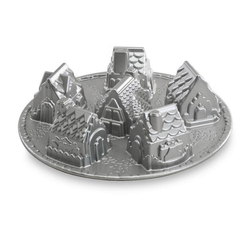 Nordic Ware Platinum Cozy Village Baking Pan by Nordic Ware