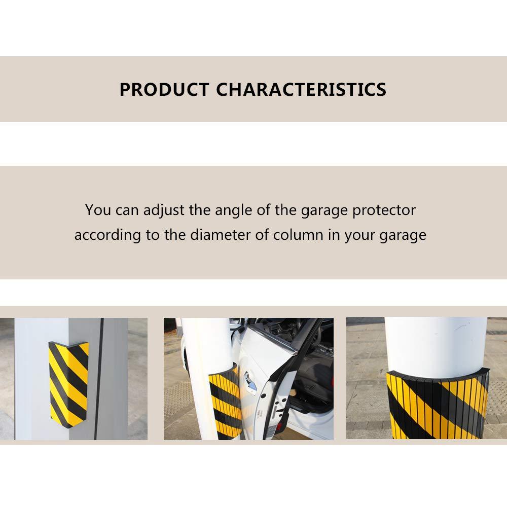Protector de aparcamiento para coche, protector de esquina de advertencia de pared para garaje, protectores de parachoques y goma antiarañazos: Amazon.es: ...