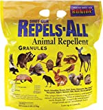 Bonide Products Shot-Gun Repels-All Animal Repellent Granules / Natural Pesticide / Gardens / Repels birds, dogs, cats, chipmunks, squirrels, deer, raccoons, rabbits, skunks and more! (6, 1-Pack)