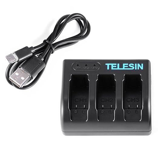 3 opinioni per TELESIN USB 3 slot Camera Battery Charger caricabatteria di corsa per GoPro Hero