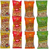 Fried Pork Rinds Variety Snack Pack 12 Bags
