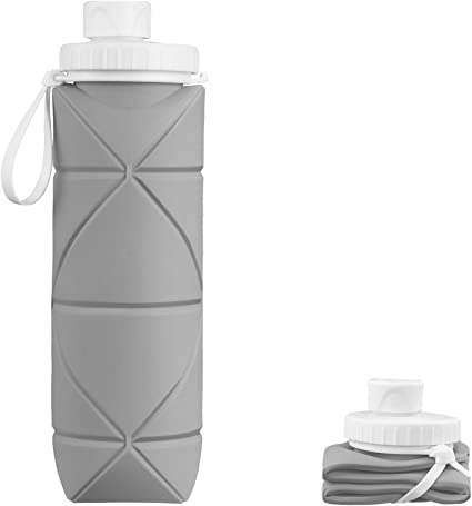 Collapsible bottle leak-proof travel water bottle 600ml sports bottle portable water bottle outdoor mountaineering large capacity waterproof and heat-resistant …