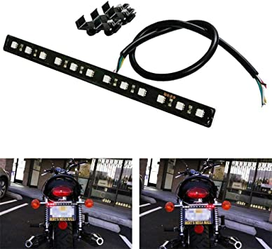 LED Brake /& Left Right Indicators Light Bar Turn Signal Lamp For Harley Bobber