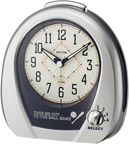 Rhythm Clocks Baseball Alarm – Model 4RM759WD19