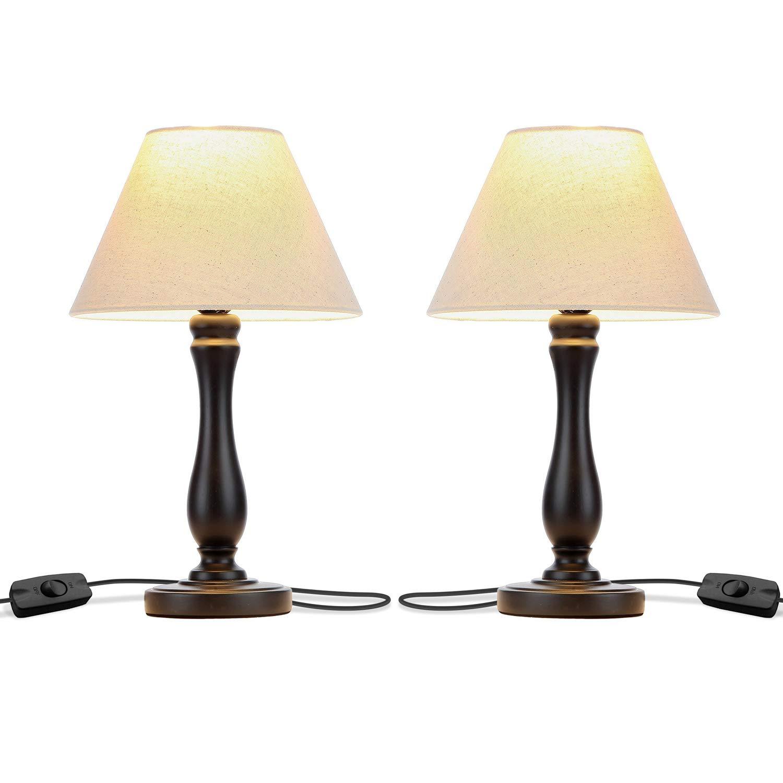 Amazon.com: Brightech Noah – Juego de 2 lámparas de mesa ...