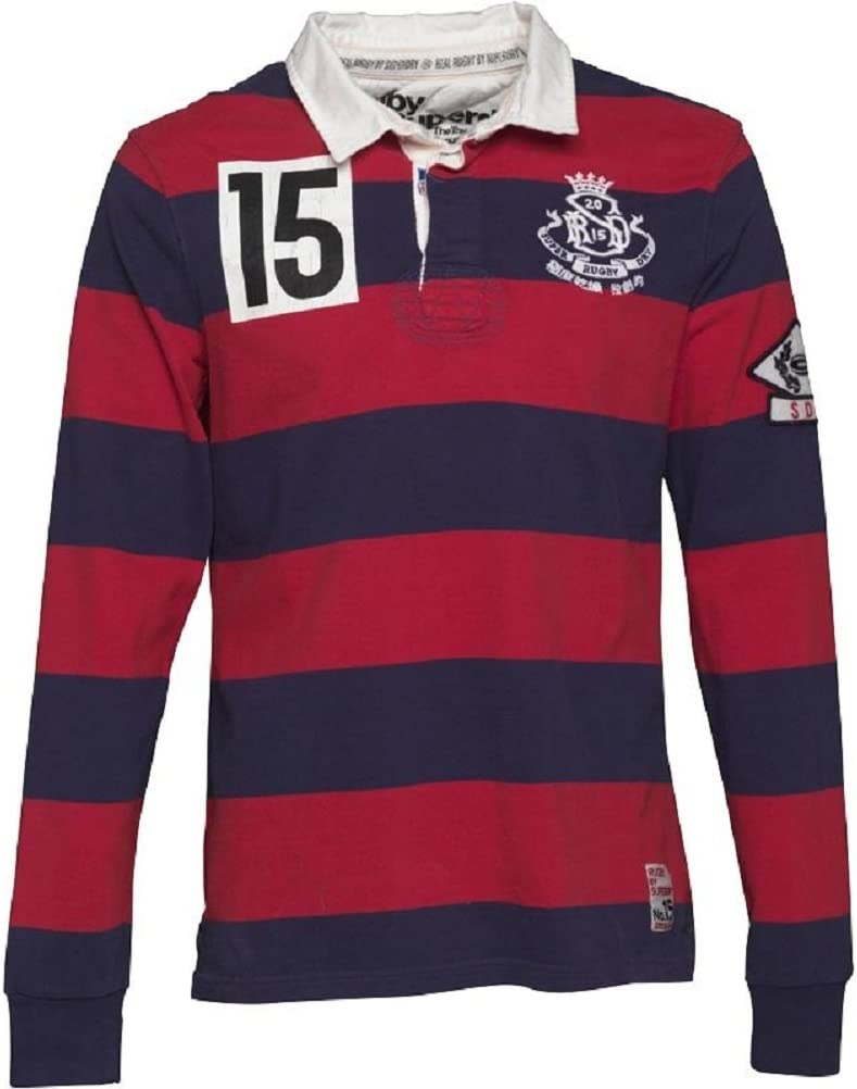 Superdry Hombre Training Ground Francia Rugby Polo Hoop Stripe ...