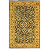 Safavieh Antiquities Collection AT14E Handmade Traditional Oriental Blue Wool Area Rug (5′ x 8′)