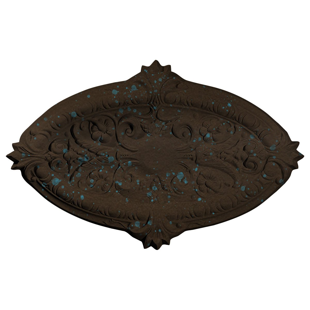 Ekena Millwork CM26MRBBS 26 3/8'' W x 17 1/4'' H x 1 3/4'' P Marcella Ceiling Medallion (fits Canopies up to 3''), Bronze Blue Patina