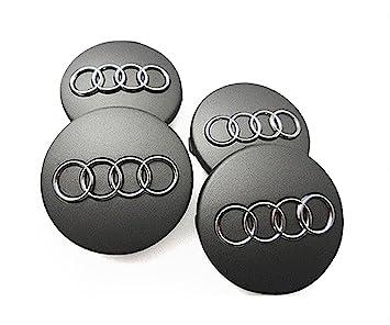 Audi gris llantas de aleación Centro Tapacubos.