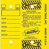 Self Laminating Self Protecting Versa Tags Key Tags with Rings (250 per Box) (Yellow)