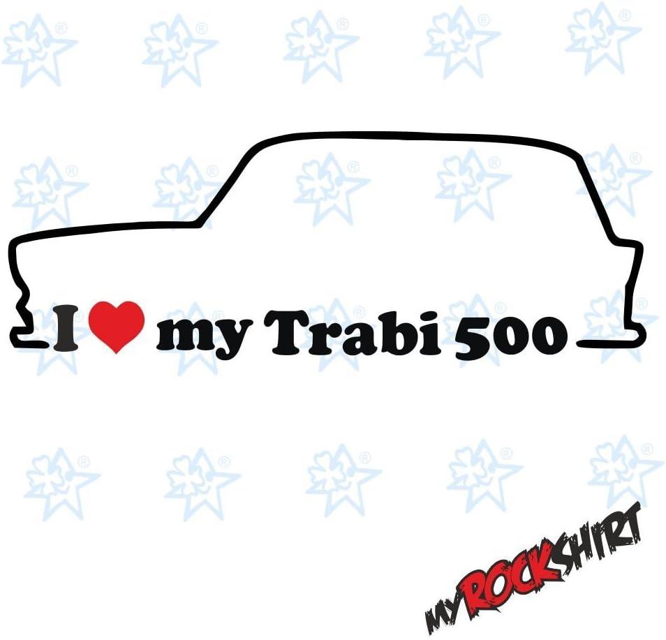 2 X I Love My Trabi 500 Trabant Kombi Ca 15x5 Cm Silhouette Aufkleber Sticker Umriss Autoaufkleber Car Küche Haushalt