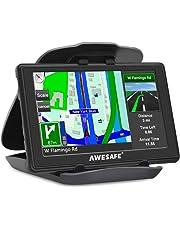 GPS de Voiture Navigation Auto 8G LCD 5 Pouce à Ecran Tactile Système de Navigation avec 52 Cartes Intégrés Support Carte TF