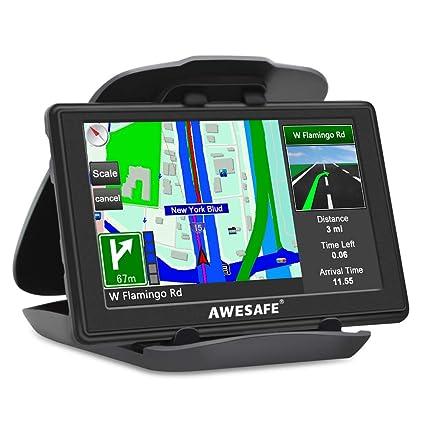 AWESAFE - Navegador GPS para Coche, camión, Coche, Pantalla ...