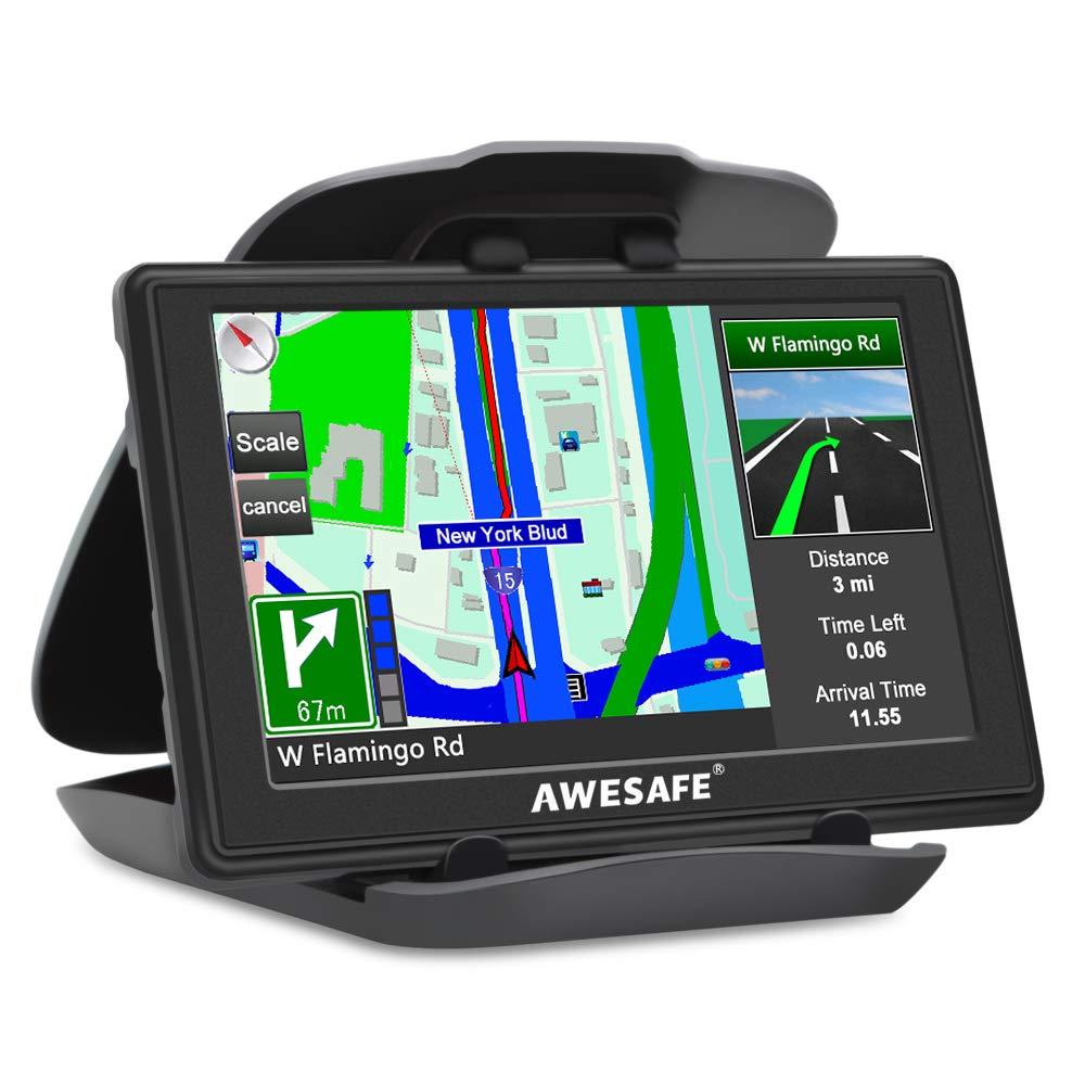 GPS para Coches con 5 Pulgadas Pantalla LCD, Sat Nav Navegador GPS para Coche y