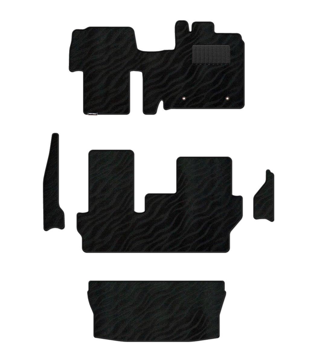 Hotfield ダイハツ タント タントカスタム LA600S フロアマット&トランクマット&ステップマット LA610S対応 WAVEブラック フロント一体式/リアヒーターダクト:有 B079NS2CT3 フロント一体式/リアヒーターダクト:有|WAVEブラック WAVEブラック フロント一体式/リアヒーターダクト:有