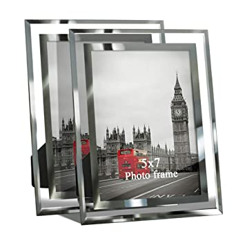 Amazon De Giftgarden Bilderrahmen 13x18 Glas Hochzeit Fotorahmen