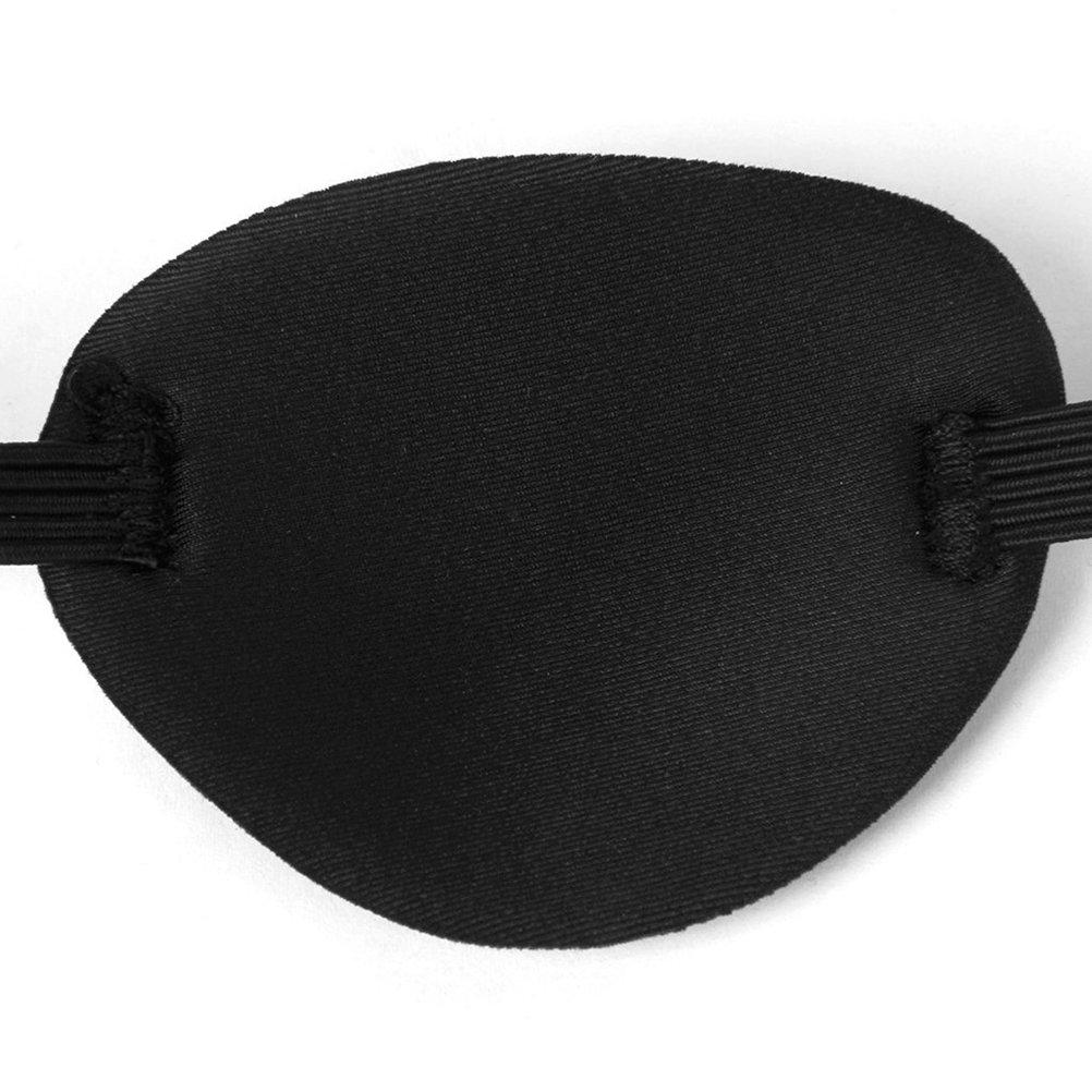 SUPVOX Parche en el ojo negro Parche en el ojo ajustable Parche en el ojo de estrabismo M/áscara de ojo suave y c/ómoda para la ambliop/ía ojo vago