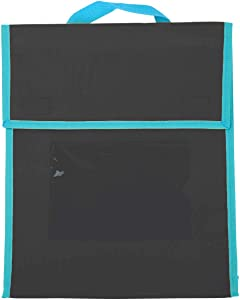 Really Good Stuff Store More Medium Book Pouches – Single Color, Set of 36 – Send Home Books and Homework in Durable Fabric Book Bag – Stitched-On Handle, Clear Name Tag Pocket, Available in 16 Colors