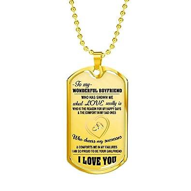 AZ Gifts Romantic Quote To My Boyfriend Necklace Jewelry