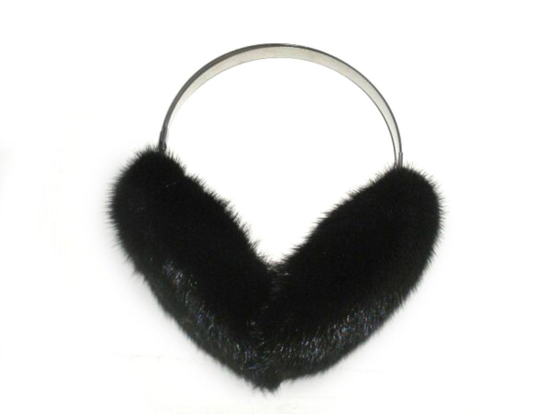Ranch Mink Ear Muffs w/Adjustable Steel Band